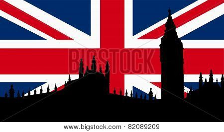 British  Design with Big Ben Flag