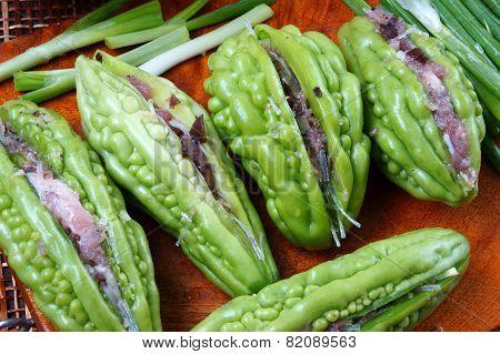 Vietnamese Food, Bitter Melon, Ground Meat
