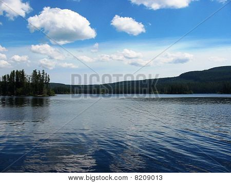 Beautiful northern lake
