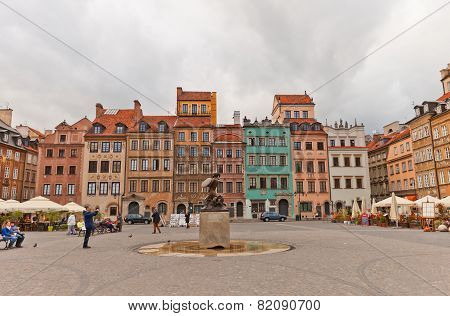 Dekert Side Of Old Town Market Place. Warsaw, Poland