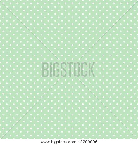 Seamless Polka Dot Pattern, Pastel Green