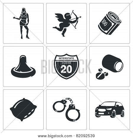 Vice Squad Vector Icons Set