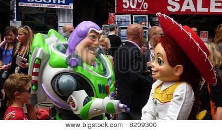 Buzz Lightyear And Jessie At Toy Story 3 Premiere In Central London 18Th July 2010