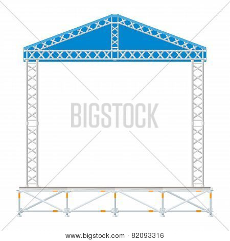 color flat design sectional concert metal stage with roof