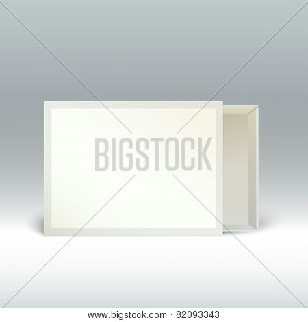 Blank matchbox standing on the edge, isolated.