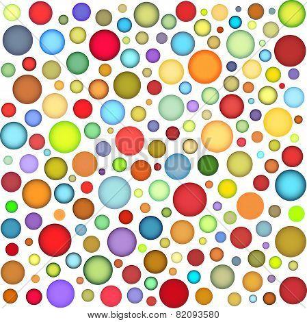 joyful sphere bubble pattern in multiple color