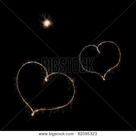 Two Hearts From Sparkler