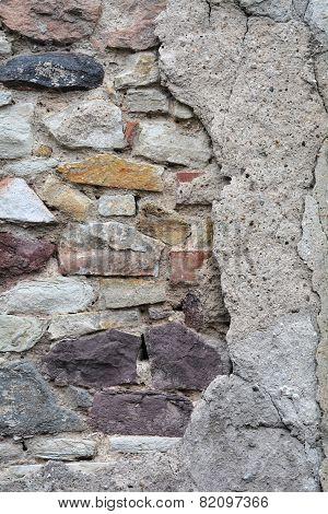 dilapidated facade