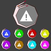 pic of hazard symbol  - Attention sign icon - JPG