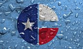 image of collins  - flag of Collin County with rain drops - JPG
