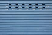 stock photo of roller shutter door  - steel of roller shutter door store warehouse - JPG