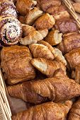 image of french pastry  - French pastries and croissants in a bakery - JPG