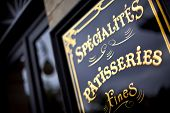picture of french pastry  - Stylish sign of a vintage French bakery - JPG