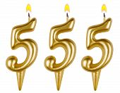 stock photo of 5s  - candles number five hundred fifty - JPG