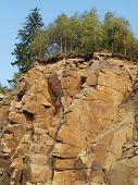 stock photo of bohemia  - large stone quarry - JPG