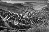 pic of curvy  - Beautiful Curvy roads on Old Silk Route Silk trading route between China and India Sikkim - JPG