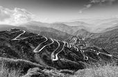 picture of curvy  - Beautiful Curvy roads on Old Silk Route Silk trading route between China and India Sikkim - JPG