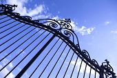 foto of wrought iron  - Wrought iron gate of a French castle - JPG