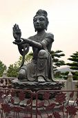 foto of lantau island  - six bronze statues known as  - JPG