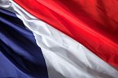 picture of rebs  - Picture of the French flag with wavy texture - JPG