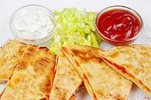 picture of mexican food  - Mexican food from the kitchen on a white background - JPG