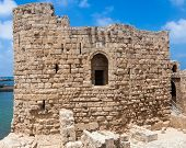 image of crusader  - Crusader Sea Castle in Sidon city in Lebanon - JPG