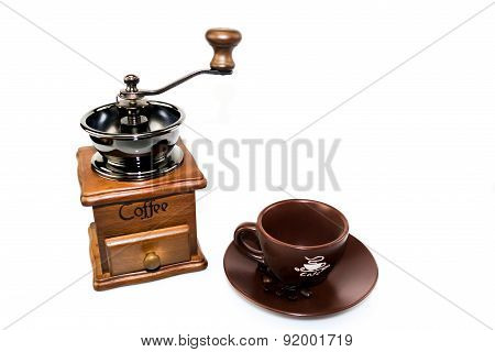Coffee blender with coffee cup