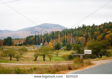 House In Fall Foliage