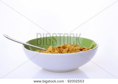 Plate Of Krispy With Spoon