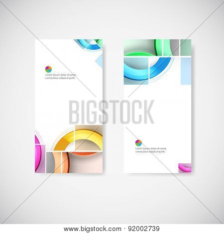Set of geometric banners for modern design