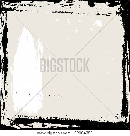 Abstract grunge frame. Black and beige Background template. Vector