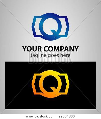 Letter q logo icon design template elements. Vector color sign