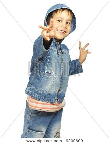Little Boy With Outstretched Hand