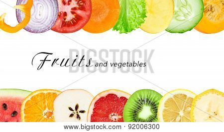 Fresh Fruit And Vegetable Slices