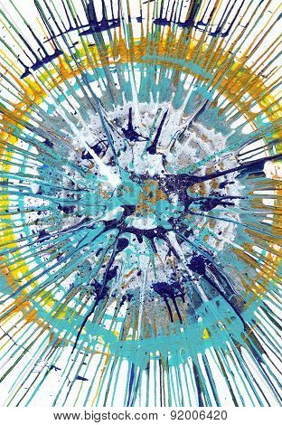 Abstract expressionism painting - Fresh Drops