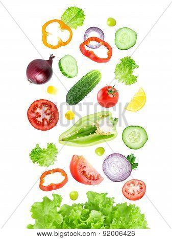 Falling Vegetables