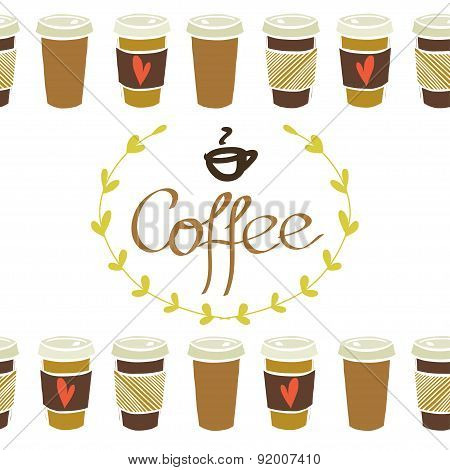 Coffee Cup bottom borders