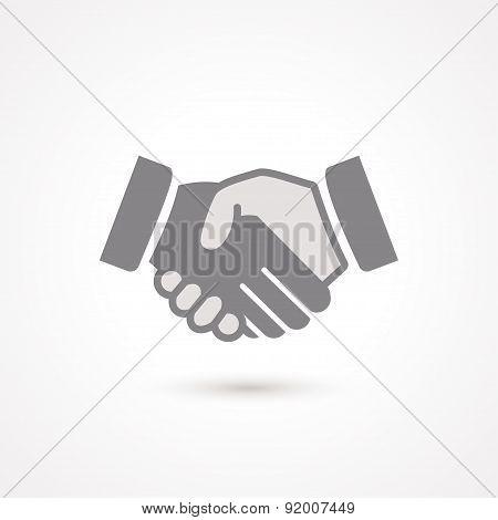 Handshake Black Icon