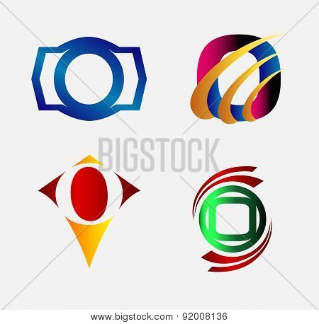 Set of Letter O icon