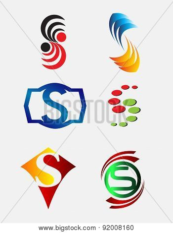 Set of Decorative Letter s - Icons Logo and Elements