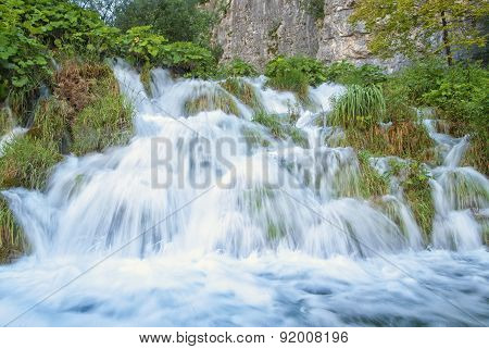 Waterfall in a croatian national park