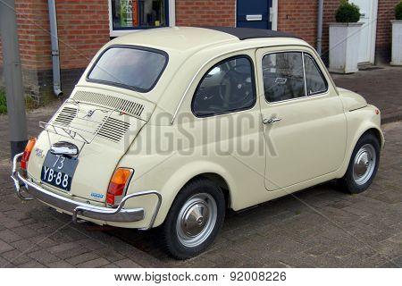 Compact Classic Vintage Italian Car  - Fiat 500