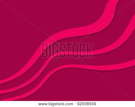 Abstract background with diagonal pink waves on vinous