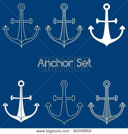 Set Of Anchor Logo