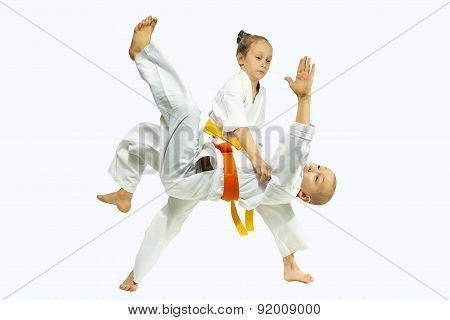 High throw judo in perfoming young athletes