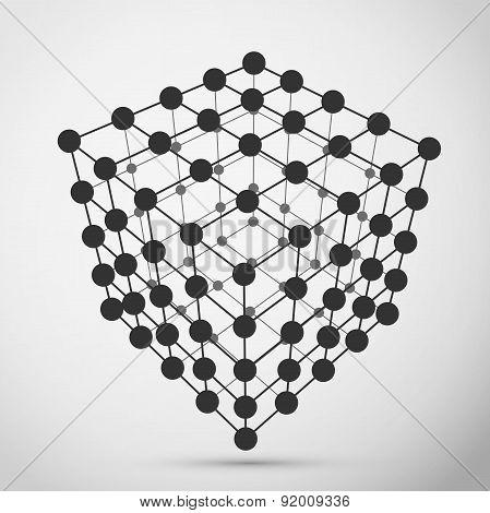 Wireframe polygonal element