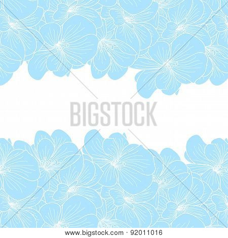 Geranium Flowers Background With Copyspace