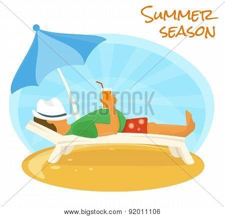 Summer sunbathe