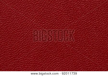 Deep red leather texture background