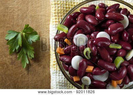 Bean With Onion Salad